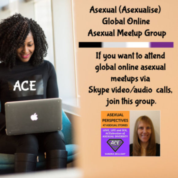 Group logo of Asexual Virtual Online Global Meetup Group – By Asexual Author And Asexuality Coach Sandra Bellamy